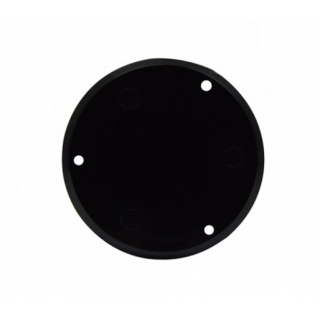 GUITAR REAR SWITCH COVER ROUND BLACK